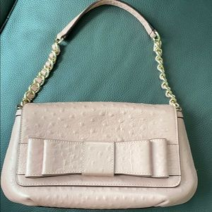 Kate Spade Pink Ostrich with Gold Detail